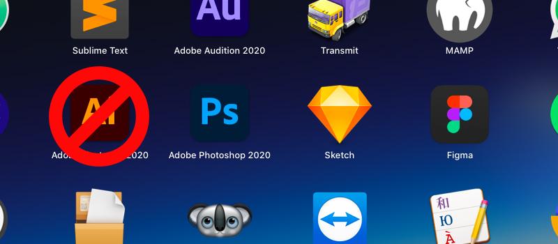 Razones para no diseñar web o apps en Adobe Illustrator